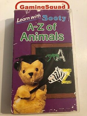 Learn with Sooty, A-Z of Animals VHS Video Retro, Supplied by Gaming Squad