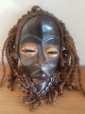 Genuinely old and used African Dan Deangle wood mask. Fine example. Ivory Coast