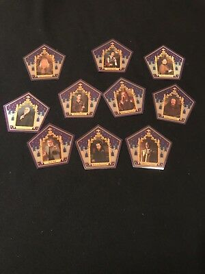 harry potter chocolate frog cards 10 Card Set