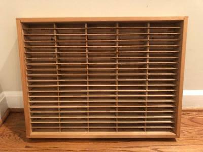 Napa Valley 100 CASSETTE TAPE Wood Storage Holder Rack -- DATED Aug 1990
