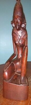 Antique Hand Carved Indonesian Statue.