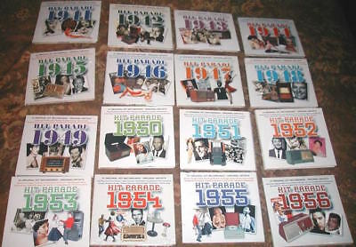 Hit Parade 1941-1956: 400 Great Songs & Artists! 16 Cds, Most Factory Sealed