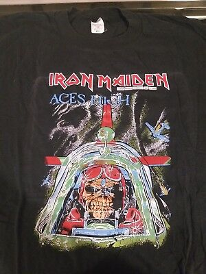Iron Maiden Vintage T Shirt Aces High 1984