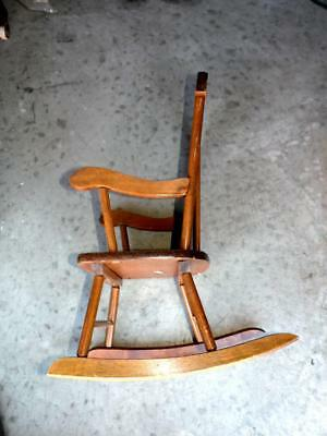 SEARS ROEBUCK, CHILDREN'S ROCKING CHAIR 1960's WOODEN VINTAGE STORE MODEL 90441