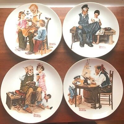 Normal Rockwell PLATES Set of 4 1982 LIMITED EDITION