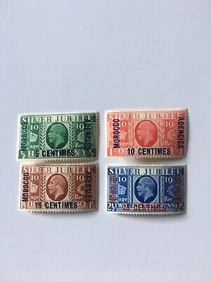 1935 Silver Jubilee Morocco Agencies French Zone M/Mint Set of 4