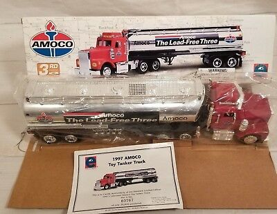 1997 Amoco Toy Tanker Truck 3rd in a Series Equity Collectibles MIB