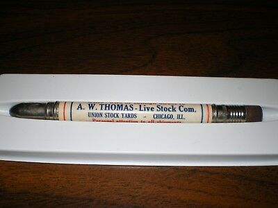 A.W. Thomas Livestock Commission Union Stock Yards Chicago IL Bullet Pencil