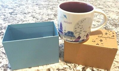 Disney Parks Epcot Starbucks You Are Here Coffee Mug Silver Monorail New in Box