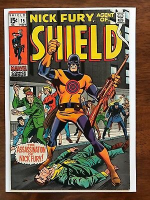 Nick Fury, Agent Of Shield # 15 NM- 9.2 Exceptional Spine !! Straight Edges !!