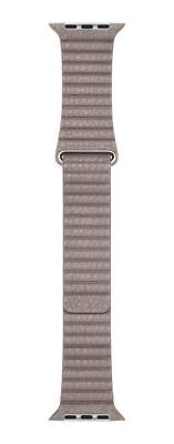 Apple Leather Loop Band - 42mm - Smoke Gray - Large - OPEN BOX