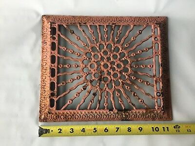 Antique Victorian Cast Iron Heating Vent Square Cover Grate Register Home Decor