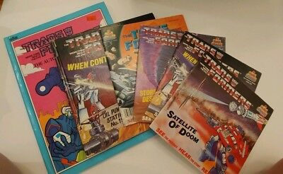 Vintage G1 Transformers Listen 'n Play book only lot - Hasbro - Kid Stuff