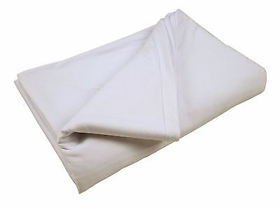 MC-5110N Fitted Hospital Bed Bottom Sheet, Cotton & Polyester - White