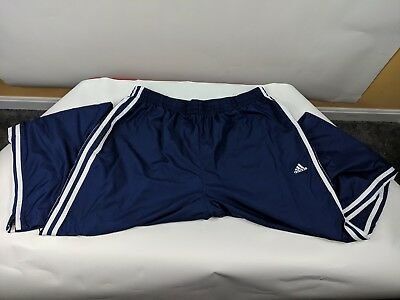 Vintage 90s Adidas Mens XL Spell Out Striped Nylon Joggers Jogger Pants Blue | eBay