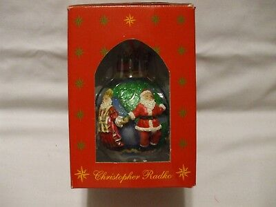 Christopher RADKO SANTAS Around the WORLD Christmas Ball Ornament Box #01-6860-0