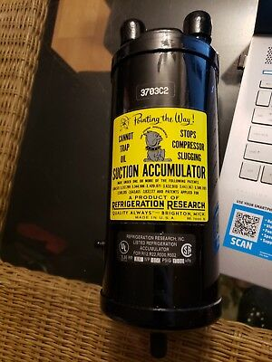 """New 3703C2 Refrigeration Research Suction Accumulator 3/4"""" Line R22 R22 R502"""