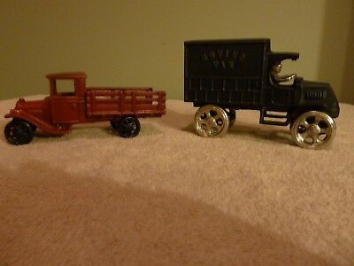 Arcade Cast Iron Toy Stake Truck Moving Van