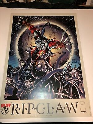 RARE VINTAGE (RIPCLAW) Poster / 23X33 / IMAGE 1994 SIGNED & Numbered 101/1000