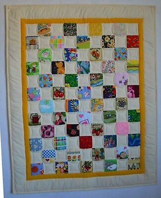 """Handmade I-SPY Baby / Toddler Quilt #6, size 29"""" x 36"""" , LAP QUILT"""