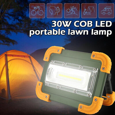 Waterproof 30W Portable COB LED Work Light USB Charge Floodlight Camping Lamp