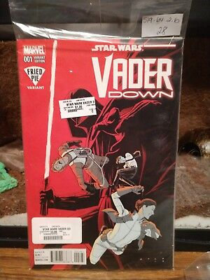 Star Wars: Vader Down #1 (January 2016, Marvel) Fried Pie Variant Cover, Unread
