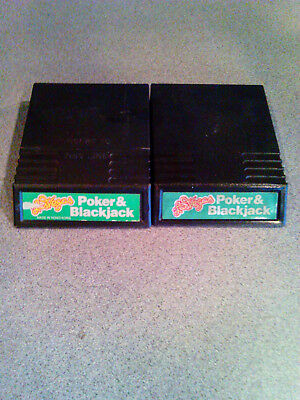 Intellivision Las Vegas Poker & Blackjack with PDF Guide & Overlays Tested/Works