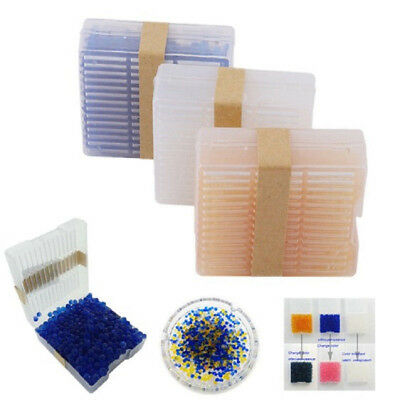 1Pc*Silica Gel Indicating Desiccant Reusable Drier Box Canister Container 3Color
