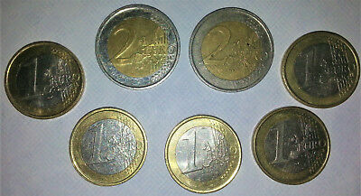 Lot of 21 Euro Coins, Irish 2002 Collect Exchange Vacation Almost Uncirculated