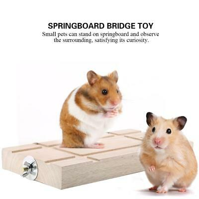 Animals Hamster Parrot Springboard Bridge Swing for Small Wooden Ladder Pet Toy