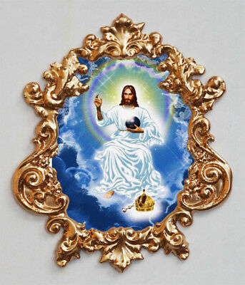 Salvator Mundi-2 (Jesus Christ).Applique,Furniture mount.Faux ormolu.
