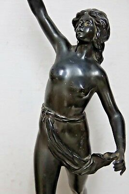 Very Beautiful Old Figure Classical Lady Bronzed Design - Rare - L@@k