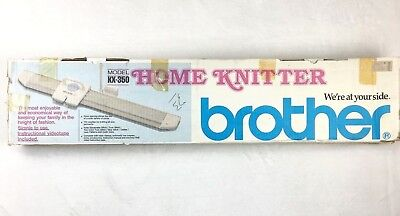 Brother KX-350 Home Knitter Knitting Machine Instructions In Box New Old Stock