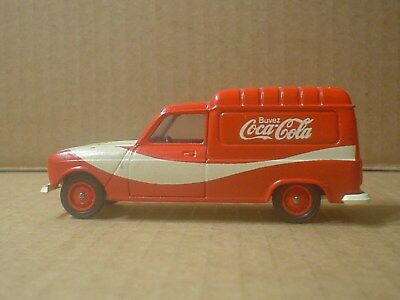 Coca Cola Renault 4 Fourgonnette Die Cast Truck ~ Solido ~ France 1:43 Scale