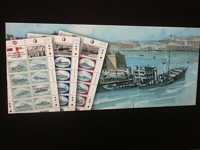 Malta 70th Anniversary Operation Pedestal 1942-2012 Eight MS NH VF SG1734/1821