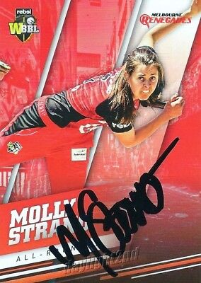 ✺Signed✺ 2018 2019 MELBOURNE RENEGADES Cricket Card MOLLY STRANO Big Bash League