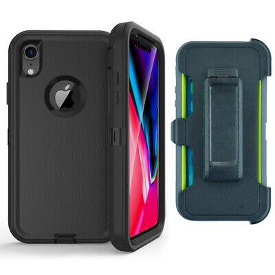 iPhone XR X XS MAX Case Hybrid Heavy Duty Cover+Belt Clip fit Otterbox Defender