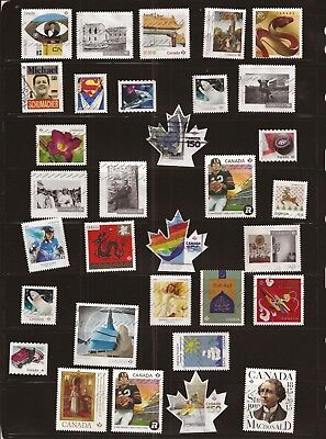 S17 Collection of 32 recent Canada used stamps