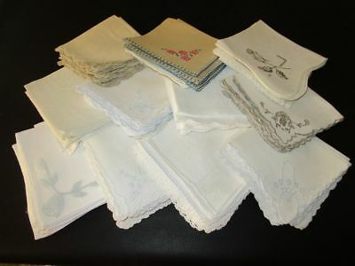 Lot of 75 Vintage Tea Napkins 11-12""