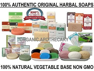100% NATURAL HEALTHY SOAP BARS Handcrafted/Botanical/Herbal/Raw/Black/Organic