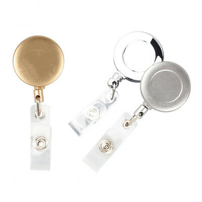 Retractable Pull Key Ring ID Name Tag Card Holder Badge Holder Key Chain Clip