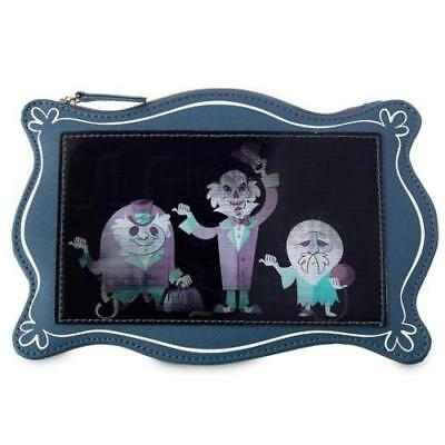BRAND NEW Disney Parks Haunted Mansion Hitchhiking Ghost Pouch Clutch Purse