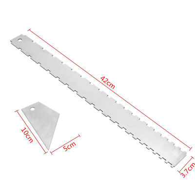 Silver Guitar Neck Notched Sturdy Aluminum Straight Edge And Fret Rocker Tools &