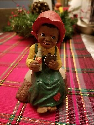 All God's Children Martha Holcombe Figurine RC Cola Red Hat Sitting on Stump