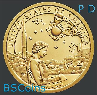 2019 P&D NATIVE AMERICAN Sacagawea SPACE Program Dollar 2 Coin set - PRESALE