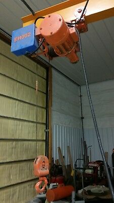 Electro Lift 1 ton cable hoist with trolley