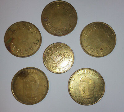 West Windsor Parking Authority WWPA Token - PLUS 5 other BRASS Tokens FREE SHIP