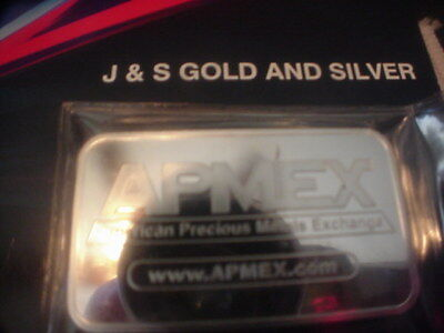 5 Ounce Silver Bar Apmex .999 Fine Silver 5 Troy Ounces Fine Silver Proof  J&s