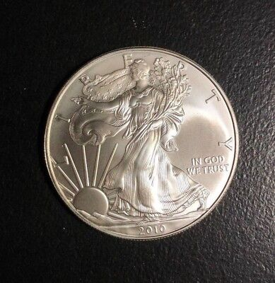 2010 American Silver Dollar Eagle ~ Gem Bu Contains 1 Troy Oz .999 Fine Silver