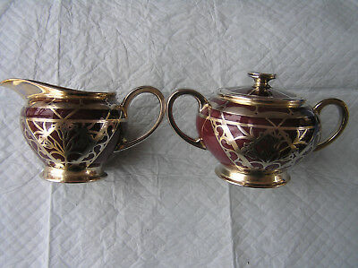 Rosenthal silver overlay creamer and sugar